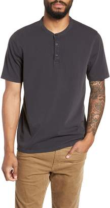 Vince Regular Fit Garment Dye Short Sleeve Henley