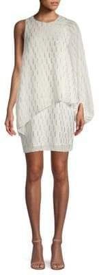Laundry by Shelli Segal Women's Asymmetrical Cape Popover Dress - Star White - Size 4