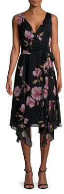 Gabby Skye Plus Floral Wrap Dress