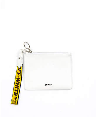 Off-White Diagonal Double Flat Clutch Bag