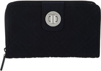 Vera Bradley Microfiber RFID Turnlock Wallet