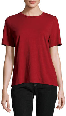 Eileen Fisher Short-Sleeve Slubby Organic Jersey Top $68 thestylecure.com