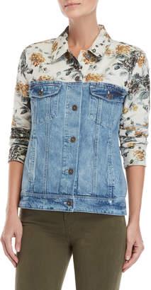 Paige Floral Tapestry Denim Jacket