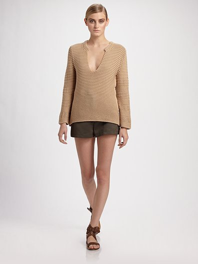 Chloe Silk/Cotton Knit Tunic