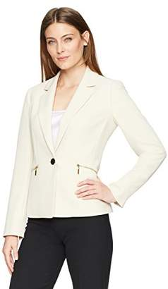 Kasper Women's 1 BTN JKT W/Zipper Pockets