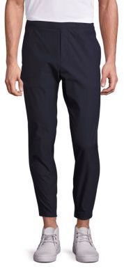 Theory Pier Neoteric Slim-Fit Drawstring Jogger Pants $245 thestylecure.com