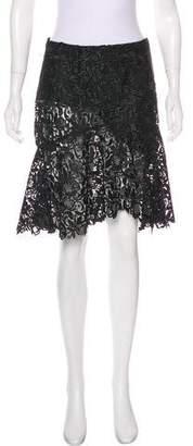 Nina Ricci Lace Knee-Length Skirt