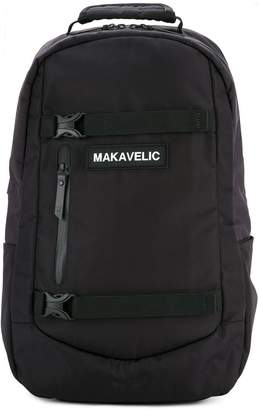 Makavelic push buckle fastened backpack