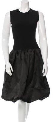 Oscar de la Renta Pre-Fall 2016 Silk-Accented Dress w/ Tags $725 thestylecure.com