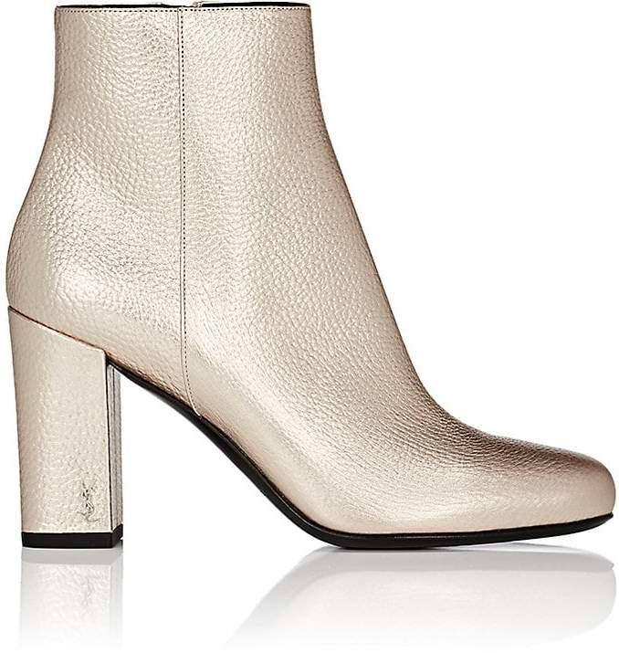 Saint Laurent Women's Babies Grained Leather Ankle Boots
