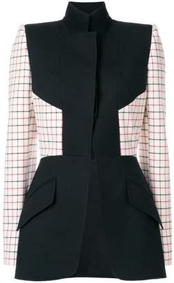 Alexander McQueen grid print panelled blazer