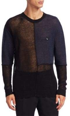 McQ Patched Mesh Sweater