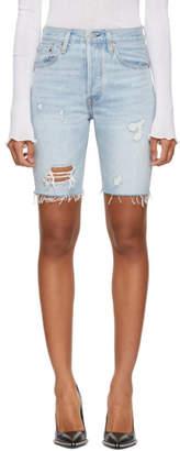 Levi's Levis Blue 501 Slouch Shorts