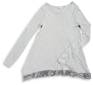 Splendid Girls 7-16 Girl's Heathered Embellished Top $54 thestylecure.com
