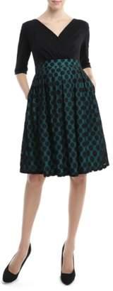 Kimi and Kai 'Liliana' Polka Dot Lace Maternity Dress