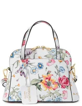 Persaman New York Greta Leather Floral Crossbody Bag