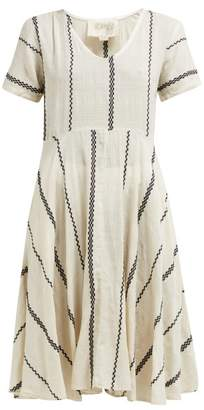 Ace&Jig Luella Striped Cotton Midi Dress - Womens - White