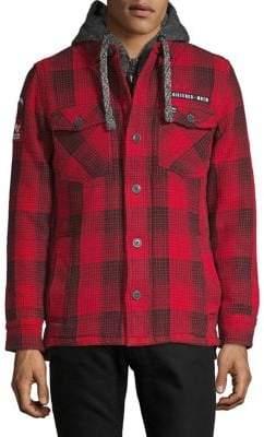 Superdry Mainline Plaid Hooded Cotton Jacket