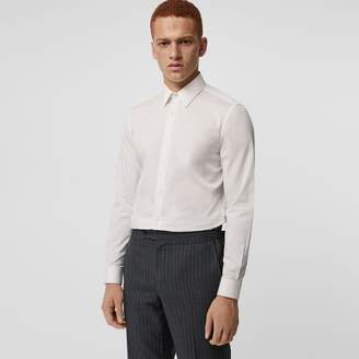 Burberry Slim Fit Striped Cotton Poplin Dress Shirt