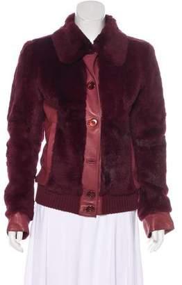 Dolce & Gabbana Fur Bomber Jacket