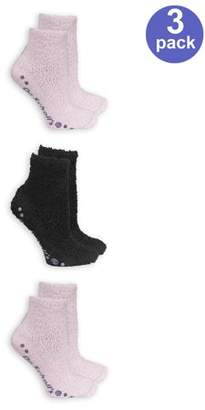 Dr. Scholl's Women's Bonus Pack Low Cut Spa Socks With Grippers 3 Pack