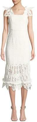 Shona Joy Viola Sleeveless Eyelet Midi Dress