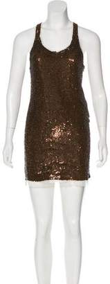 Haute Hippie Sequined Mini Dress