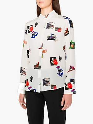 Paul Smith Scrapbook Silk Shirt, Off White