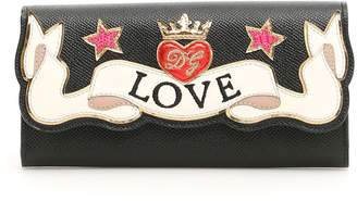 Dolce & Gabbana Calfskin Wallet With Love Patch