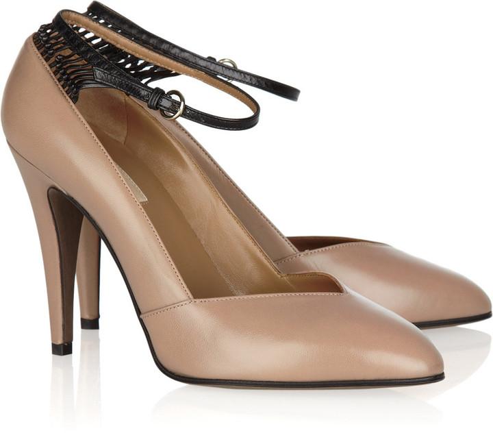 Valentino Capretto knot two-tone leather pumps