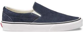 Vans Classic Slip-on in Blue Hairy Suede