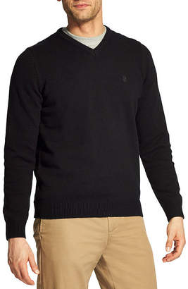 Izod V Neck Long Sleeve Pullover Sweater