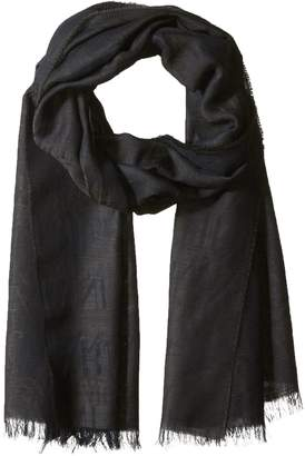 Armani Jeans Men's Solid Wool AND Modal Fabric Scarf