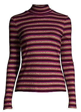 Generation Love Women's Moira Stripe Long-Sleeve Knit Turtleneck Sweater