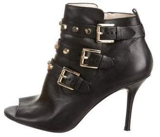 MICHAEL Michael Kors Leather Studded Ankle Boots