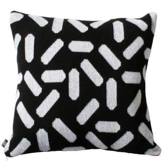 TiCTAC Giannina Capitani - Tic-Tac Cushion Large - Black & White/Red Zip