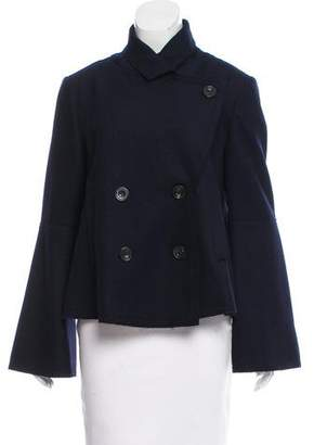 Armani Collezioni Double-Breasted Wool-Angora Coat