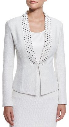 St. John Collection Embroidered Triade Knit Jacket, Cream Multi $1,795 thestylecure.com