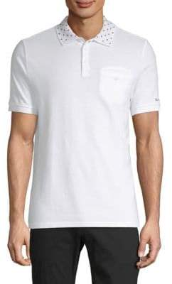 Ben Sherman Target-Print Collar Cotton Polo