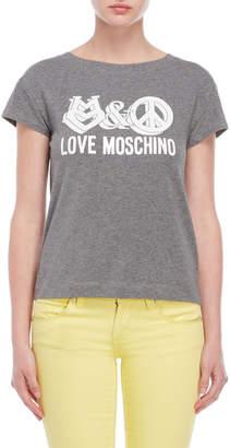 Love Moschino Grey Graphic Tee