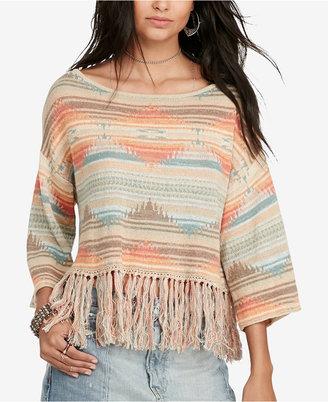 Denim & Supply Ralph Lauren Southwestern Fringe Sweater $98 thestylecure.com