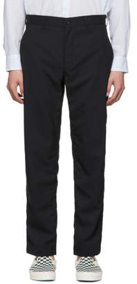Comme des Garcons Homme Homme Black Tropical Wool Trousers