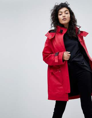 Asos DESIGN Parka with Funnel Neck and Buckles