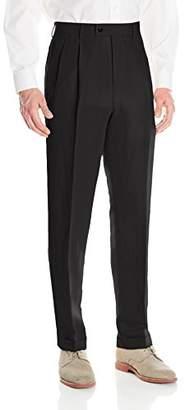 Louis Raphael Men's Linen Blend Pleated Straight Fit Dress Pant