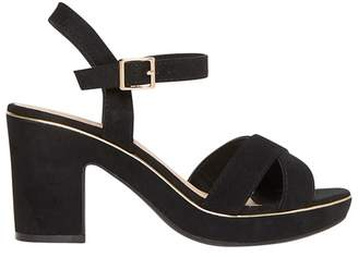 Dorothy Perkins Black Romy Platform Sandals