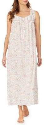 Eileen West Floral Woven Nightgown