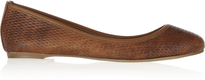 Twelfth St. By Cynthia Vincent Woven leather ballet flats