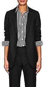 Officine Generale Women's W375 Wool Two-Button Blazer - Black