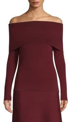 Agnona Off-The-Shoulder Merino Wool Sweater