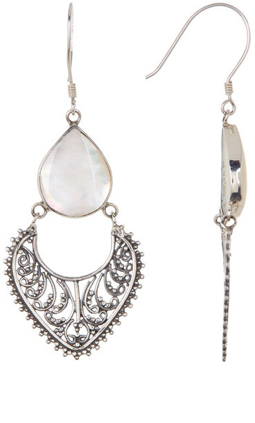 Exex Design Jewelry Sterling Silver Sarajevo Mother of Pearl Earrings